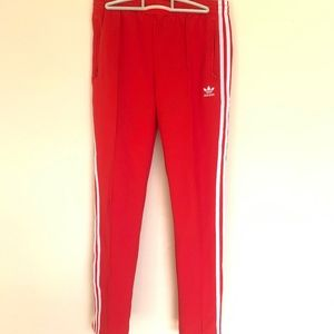 🇺🇸 Women's Adidas vibrant red track pant size M